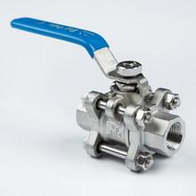 high quality npt screwed 3/8 inch 3- pc ball valve ss cf8m for acid
