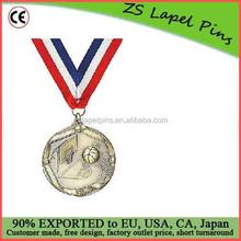 Custom quality free artwork design High Relief Medallion Basketball