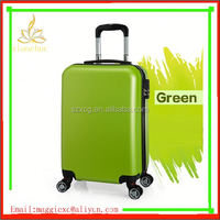 xc-3092 white color recycled abs+pc hard case/ abs and pc travel trolley bag/ press-resistance pc abs hardside luggage