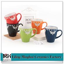 New designed Ceramic mug, Colour glazed Ceramic coffee mug, water cup for promotion and travel