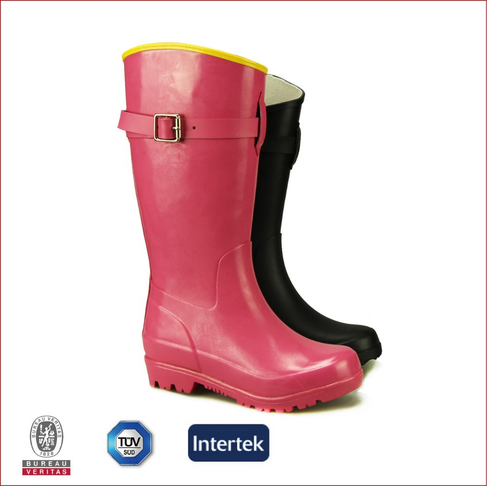 Solid Colored Rain Boots - Boot Hto