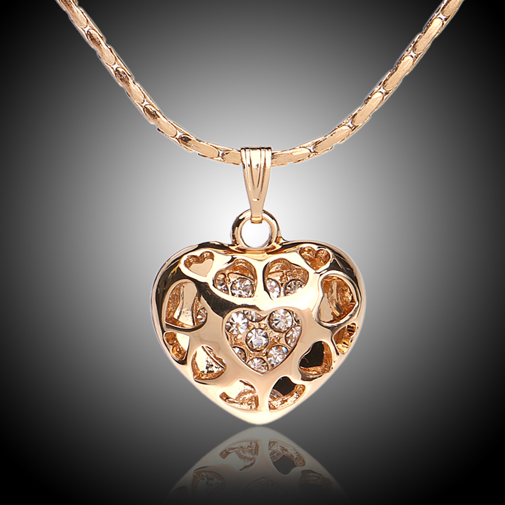 Fashion Thin Gold Chain Shield Heart Necklace Designs For ...
