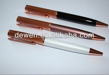 Luxury Rose gold pen &pure white pen,parker refill 1.0mm ,Germany ink,customer's logo available