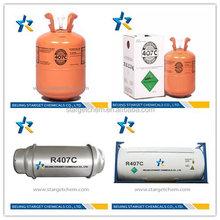Mixed refrigerant gas r407c r134 r404 r410 r600