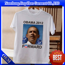 2016 custom campaign printing t shirt with your logo for election