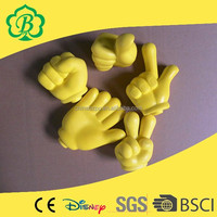 high Quaily Promotional Toys PU Reliever Thumbs Hand Shape Stress Ball
