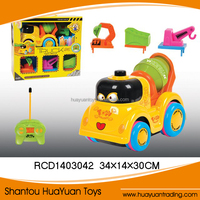 2015 most popular rc toy car 4CH music disassembling cartoon truck