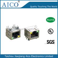 1X1 RJ45 Tab-up Modular Jack for Gigabit Ethernet