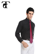 Black formal shirts for man handmade men shirts