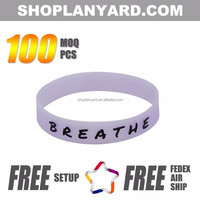 Custom embossed/imprinted/printed logo Silicone Wristband / silicone bracelet / rubber bracelet