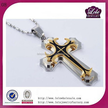 stainless steel big cross pendant plated jewelry for Man GB168213968