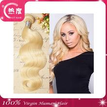 """Blonde virgin malaysian hair 4Pcs Lot malaysian Virgin Hair Body Wave 8""""-30"""" Color 613 Platinum Blonde Virgin Hair Weaving"""