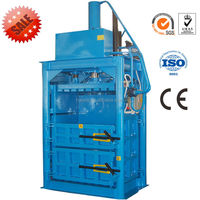 China high quality vertical carton baler/hydraulic plastic baler/waste paper baler for sale