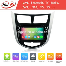 2015 HuiFei Android 4.4.4 OS Touch Screen Head Unit For Verna Accent Solaris Head Unit