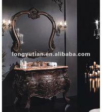 color leonado mueble de madera de baño antique de lujo (D6018)