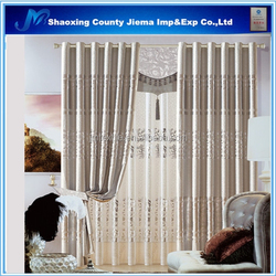CUR BLACKOUT112 soft led curtain ready made tree printed fabric for window curtains