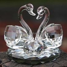 elegant swan crystal gift for home decoration MH-D0217