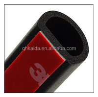 D-shaped car door rubber strips noise seal car with good virgin material