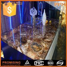Club decoration natural stone plastic countertop edging