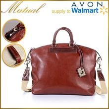 2015 fashion design men genuine leather handbag