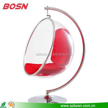 Hot sell swing or hanging clear acrylic bubble chair wholesale