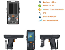 wireless fingerprinter RFID/NFC 1D/2D pda phone, android pda, pda with android os