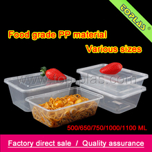 Take-out food container for food with compartments