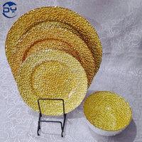 GP0012 Economic Gold Glitter Plate for Wedding Decoration