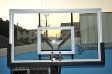 Rectangular Clear Tempered Glass Basketball Backboard