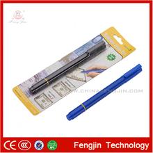 Bonne qualité de style nouveau fj798 lumière uv stylo détecteur d'argent