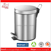 Good Quality open-top standing Structure and Eco-Friendly Dustbin Round Shape Foot Pedal Dustbin For Walmart Tesco