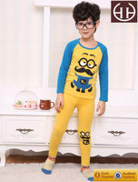 Boy cute clothing set kid cartoon pajamas children cotton pajamas with printing