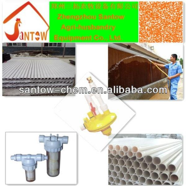 Diseño galvanizado tipos de cobertizos para de pollos de engorde