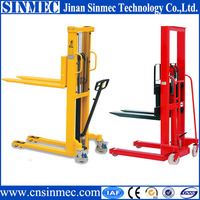 SINMEC factor price hand forklift/1t manual pallet stacker CTY-1