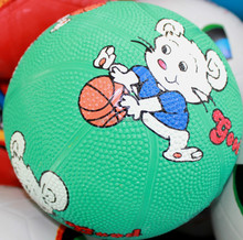Newest useful blue mini size college rubber basketball