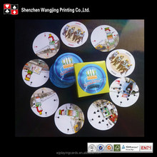 Shrink Wrapped Customized Round Playing Cards
