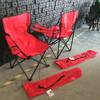 Folding portable metal travel Camping Chair with side bag and printing