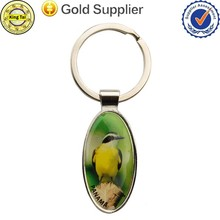 2015-new style bird printed on metal keychain