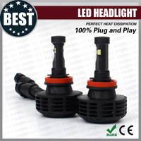 High quality halogen replacement 3000LM H8 auto led headlamps for cars