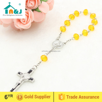 St Benedict plastic beads rosary bracelet