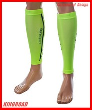 Calf Sleeves for Basketball& Sport Wear Fluro green Calf Compression Sleeve