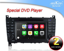For mercedes benz c-class w203 car dvd player with GPS, buletooth, canbus, ipod, RDS, steer wheel control