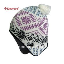 winter ear flap cap with pom