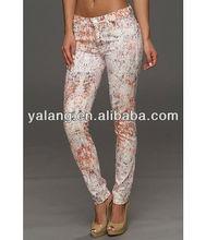 mulheres super skinny jeans safra na invision floral