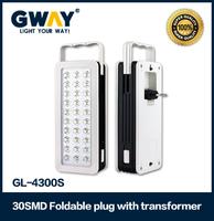 30pcs of 2835SMD,Rechargeable portable emergency light,1pcs 4V1.2AH sealed lead-acid battery