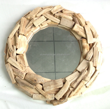 16.5 inch home decor driftwood mirror