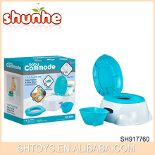 2015 Newest High Quality Factory Price 3 Function Plastic Baby Commode, Baby Commode Seat