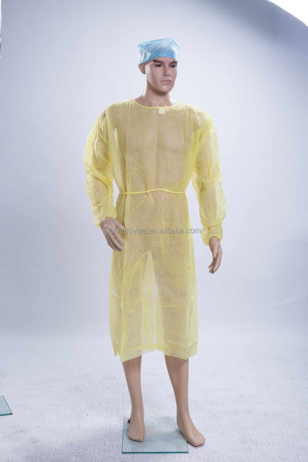 Yellow Disposable Non-woven Isolation Gown/ Nonwoven Surgical Gown ...