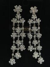 2015 Snow Wholesale party jewelry Christmas zircon dangle earrings