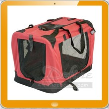 Airline approved Travel zippered openings Collapsible dog carrier bag foldable